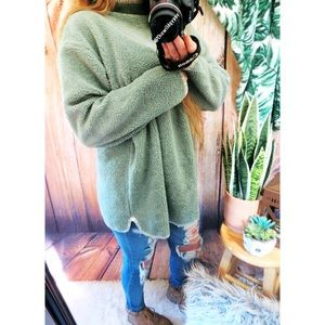 Vintage plush sherpa oversized sweater 🍂